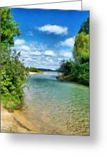 Elk River- Elk Rapids Michigan Greeting Card