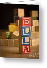 Ella - Alphabet Blocks Greeting Card