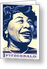 Ella Fitzgerald Portrait Greeting Card