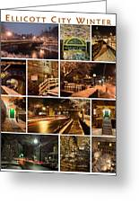 Ellicott City In The Snow Greeting Card