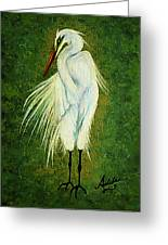 Ellie Egret Greeting Card by Adele Moscaritolo
