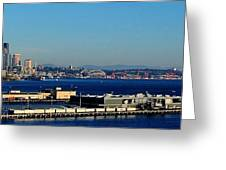 Elliot Bay Panorama Greeting Card