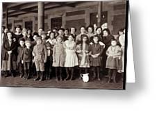 Ellis Island, C1908 Greeting Card