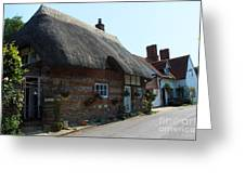 Elm Cottage Nether Wallop Greeting Card