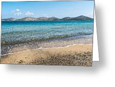 Elounda Beach Greeting Card