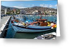 Elounda Harbour Greeting Card