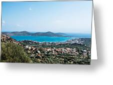 Elounda Town Greeting Card