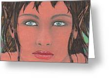 Elven Woman Greeting Card