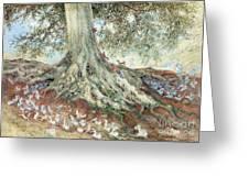 Elves In Rabbit Warren Greeting Card