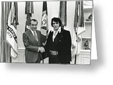Elvis And Nixon Greeting Card