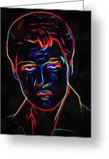 Elvis At Neon Greeting Card