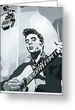 Elvis At Sun Greeting Card
