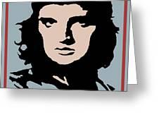 Elvis Che Guevara Viva Las Vegas Greeting Card