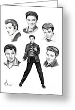 Elvis Elvis Elvis Greeting Card