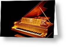 Elvis' Gold Piano Greeting Card
