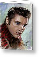 Elvis King Of Rock And Roll Greeting Card