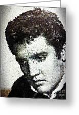 Elvis Love Me Tender Mosaic Greeting Card