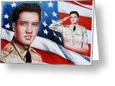Elvis Patriot  Greeting Card
