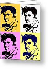 Elvis Pop X Four Greeting Card