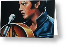 Elvis Presley 3 Painting Greeting Card by Paul Meijering