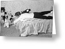 Elvis Presley At Home With His Teddy Bears 1956 Greeting Card