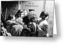 Elvis Presley Hugging Fans 1956 Greeting Card