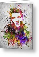 Elvis Presley In Color Greeting Card