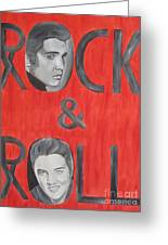 Elvis Presley King Of Rock And Roll Greeting Card