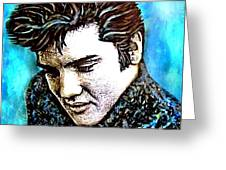 Elvis Presley Never Left The Building Alcohol Inks Greeting Card