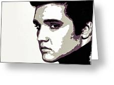 Elvis Presley Portrait Art Greeting Card
