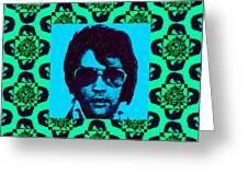 Elvis Presley Window P128 Greeting Card