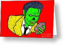 elvis presley Zombified Greeting Card by Gary Niles