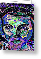 Elvis The King Abstract Greeting Card