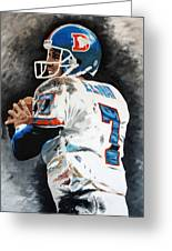 Elway Greeting Card by Don Medina