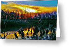 Emagin Sunset Greeting Card