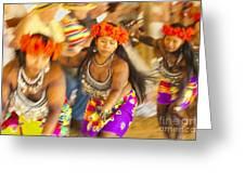 Embera Villagers In Panama Greeting Card