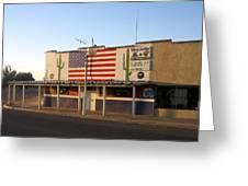 Emblazoned American Flag Silver Dollar Bar Eloy Arizona 2004 Greeting Card