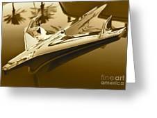 Emblem In Sepia Greeting Card