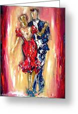 Embrace Of The Dance Greeting Card