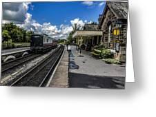 Embsay Railway Station Yorks Dales Greeting Card