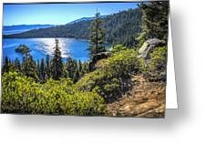 Emerald Bay Lake Tahoe California Greeting Card
