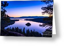 Emerald Bay Sunrise Greeting Card
