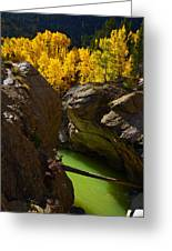Emerald Canyon Greeting Card