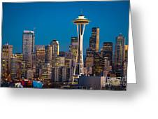 Emerald City Evening Greeting Card