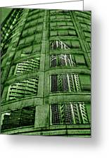 Emerald City Reflections - Seattle Washington Greeting Card