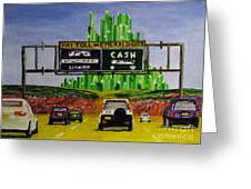 Emerald City Toll Plaza Greeting Card
