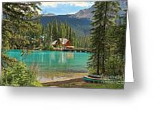 Emerald Lake Lodge Greeting Card