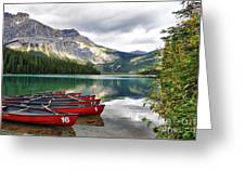 Emerald Lake Yoho National Park Greeting Card