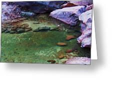 Emerald Pool 3 Greeting Card