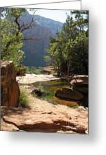 Emerald Pool View Greeting Card